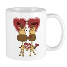 Giraffes Be Mine Valentine Mug