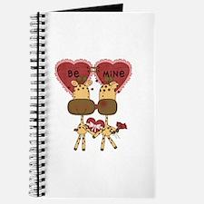 Giraffes Be Mine Valentine Journal