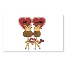Giraffes Be Mine Valentine Decal