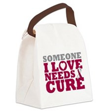 Throat Cancer Needs A Cure Canvas Lunch Bag