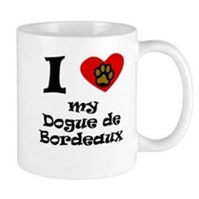 I Heart My Dogue de Bordeaux Mugs