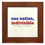One Nation Indivisible light Framed Tile
