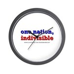 One Nation Indivisible light Wall Clock