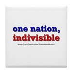 One Nation Indivisible light Tile Coaster