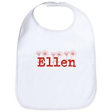 Orange Ellen Name Bib