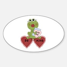 Frog With Heart Balloons Decal