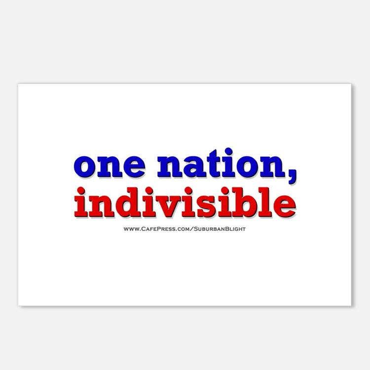 One Nation Indivisible lightapparel Postcards (Pac
