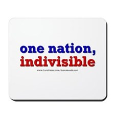 One Nation Indivisible lightapparel Mousepad