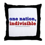 One Nation Indivisible lightapparel Throw Pillow