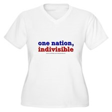 One Nation Indivisible lightapparel Plus Size T-Sh