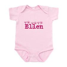Pink Ellen Name Body Suit