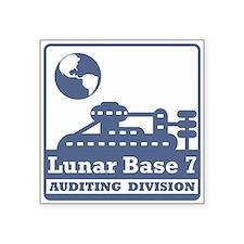 "Lunar Auditing Division Square Sticker 3"" x 3"""