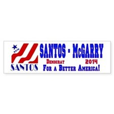 Santos Swoosh 2016 Bumper Sticker