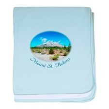 Mount St. Helens. National Park baby blanket