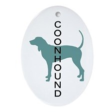 Coonhound Dogs Oval Ornament