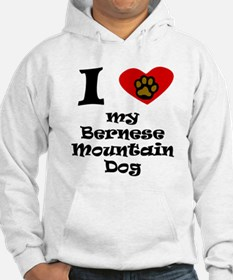 I Heart My Bernese Mountain Dog Hoodie