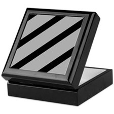 Black And Grey Stripes Keepsake Box