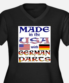 Made USA With German Parts Women's Plus Size V-Nec