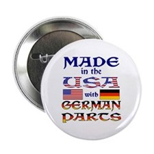 """Made USA With German Parts 2.25"""" Button"""