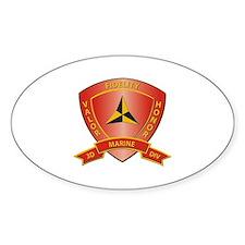 USMC - HQ Bn - 3rd Marine Division Decal