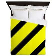 Black And Yellow Stripes Queen Duvet