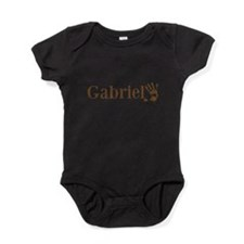 Brown Gabriel Name Baby Bodysuit