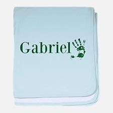 Green Gabriel Name baby blanket