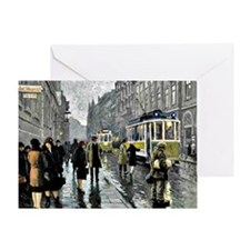 Bredgade, Copenhagen - Painting by P Greeting Card