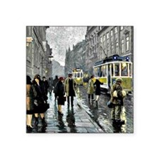 "Bredgade, Copenhagen - Pain Square Sticker 3"" x 3"""