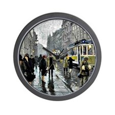 Bredgade, Copenhagen - Painting by Paul Wall Clock