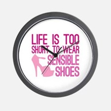 Sensible Shoes Wall Clock