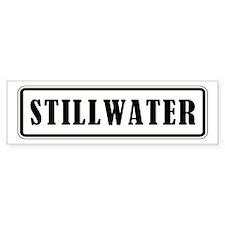 STILLWATER Bumper Bumper Sticker
