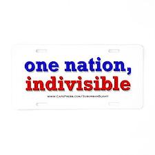One Nation Indivisible bevmug Aluminum License Pla