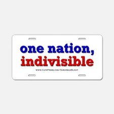 One Nation Indivisible bevmug Aluminum License Pla