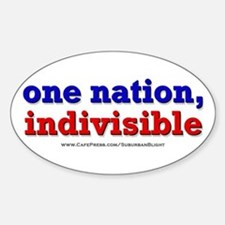 One Nation Indivisible bevmug Decal