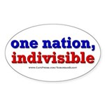 One Nation Indivisible bevmug Sticker