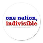 One Nation Indivisible bevmug Round Car Magnet