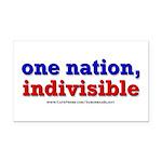 One Nation Indivisible bevmug Rectangle Car Magnet