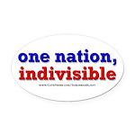 One Nation Indivisible bevmug Oval Car Magnet