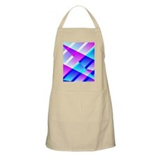 Abstract Retro Blue and Pink Apron