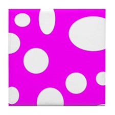 Bubbles On Pink Tile Coaster