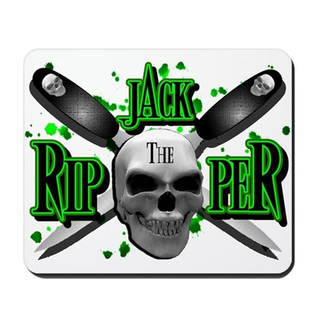 Jack the Ripper Green Mousepad