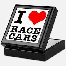 I Heart (Love) Race Cars Keepsake Box