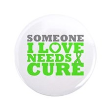 "Muscular Dystrophy Needs A Cure 3.5"" Button"
