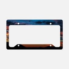 All the colors sunset License Plate Holder