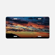 All the colors sunset Aluminum License Plate