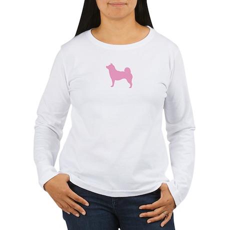 Just Shiba Inu (Pink) Women's Long Sleeve T-Shirt