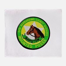 Barstow Sheriffs Posse Throw Blanket
