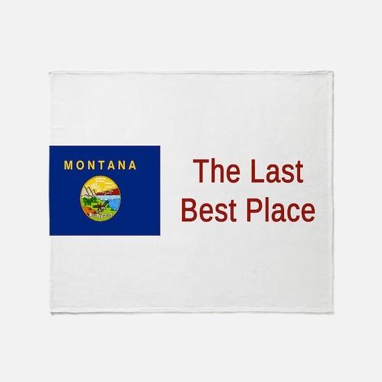 Montana Motto #6 Throw Blanket