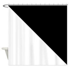 White And Black Halves Shower Curtain